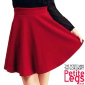 Taylor Block Red Textured High Waist Flared Skater Skirt | Petite UK Size 4-8